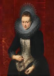 Rubens, Retrato de una joven dama con rosario