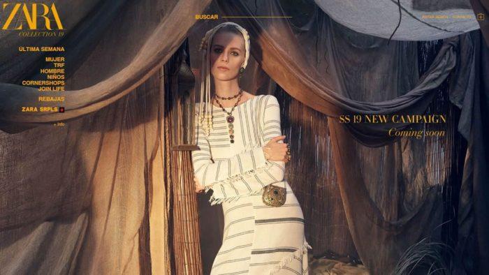 La nueva imagen web de Zara - Zara.com