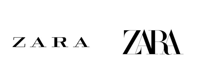 El nuevo logotipo de Zara - UnderConsideration