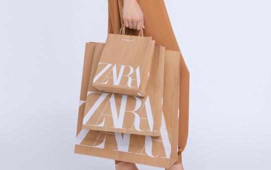 bolsas zara papel reciclado sostenibilidad
