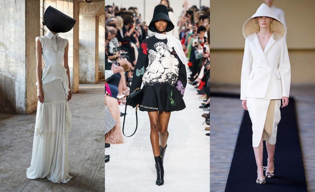 'El cuento de la criada' y el sombrero cofia @VeraWang @Valentino @MilaSchon
