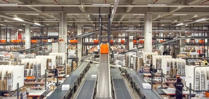 almacén Zalando, tecnología