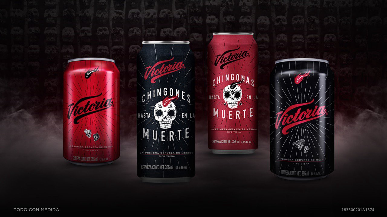 Packaging especial Cerveza Victoria para Día de Difuntos en México