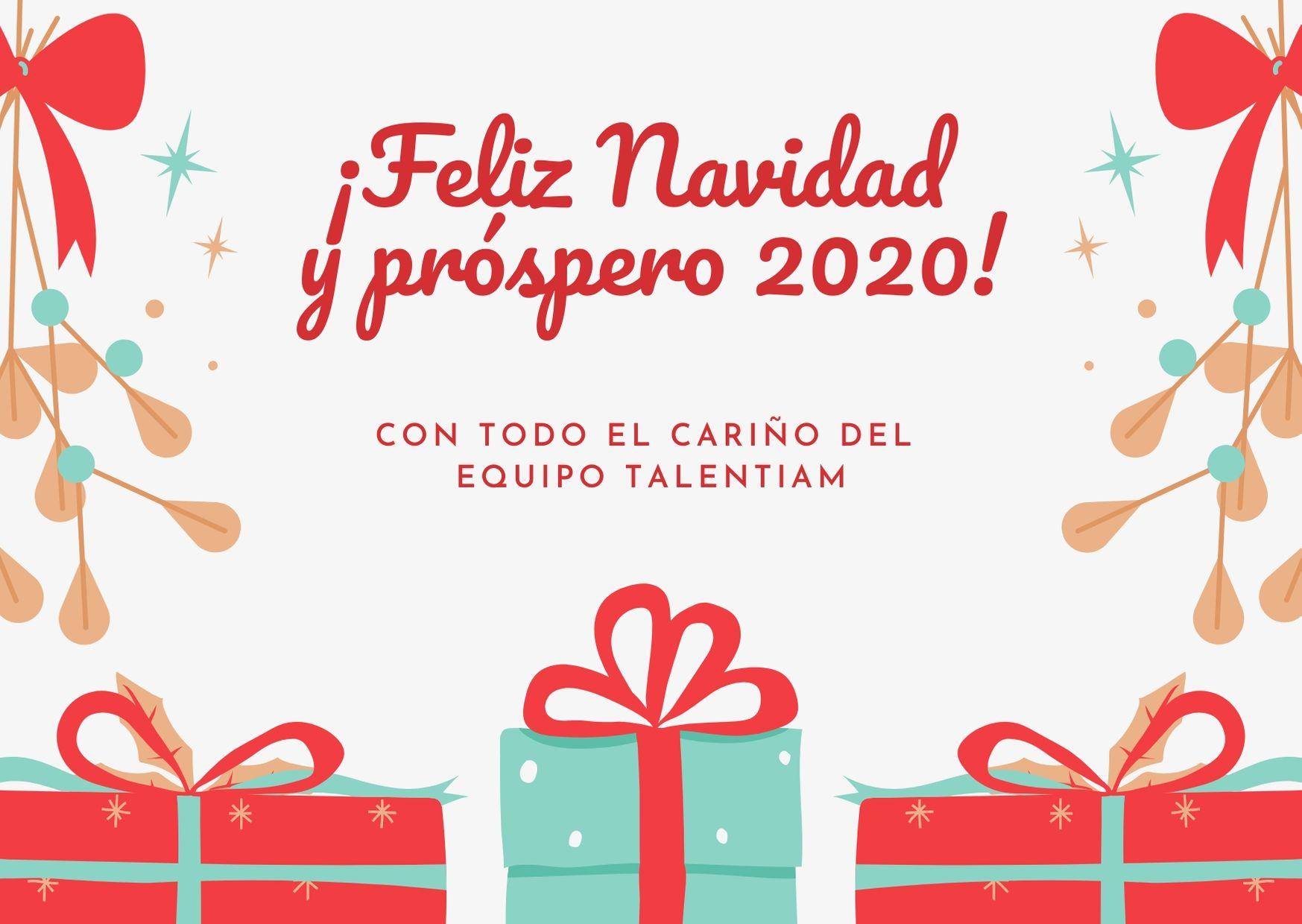 feliz navidad 2020 talentiam